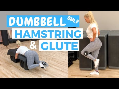DUMBBELL ONLY GLUTES AND HAMSTRINGS WORKOUT | Home and Gym workout | Beginner Friendly | 5 Exercises
