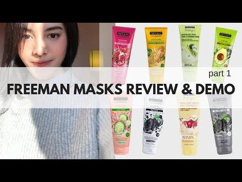 FREEMAN MASK REVIEW & DEMO part 1 (English Subtitle)   Bellinda Putri