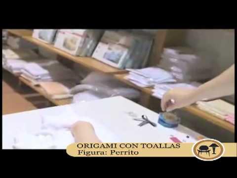 Origami con toallas: Perro