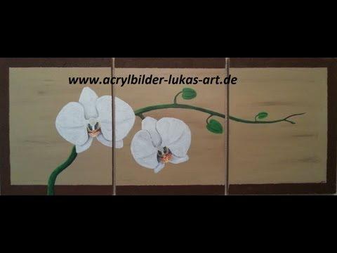 Orchideen malen Teil 1