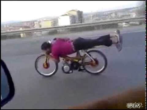 Death Defying moped stunt at 85mph