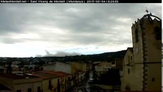 Timelapse 04-03-2015 Sant Vicenc de Montalt - Montanya