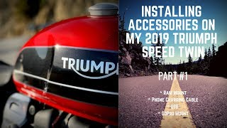 3. 2019 Triumph Speed Twin Accessory's Install Part 1
