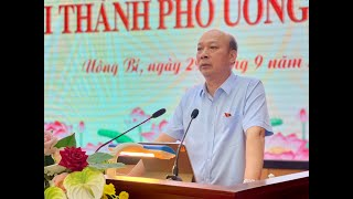 Đại biểu Quốc hội Lê Minh Chuẩn tiếp xúc cử tri thành phố Uông Bí