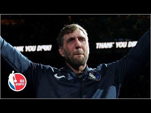 Dirk Nowitzki has emotional final game with Mavericks | NBA Highlights