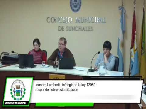 concejal Leandro Lamberti :  responde sobre esta situación