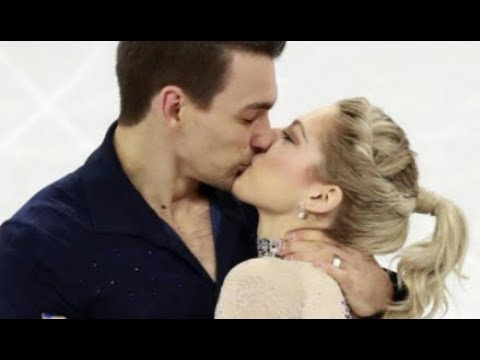 American Figure Skaters Seal Routine With Kiss - Celebrate Valentine's Day  By Competing