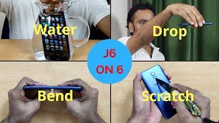 [Hindi] Samsung Galaxy On6, J6 Durability Test (Bend Scratch Drop Water)