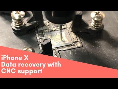 Восстановление информации iPhone X с помощью ЧПУ фрезерного станка