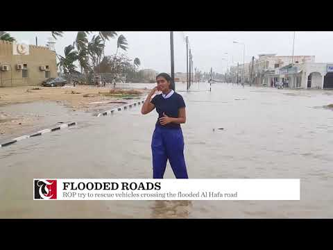 Video: Roads flooded in Salalah after Cyclone Mekunu strikes