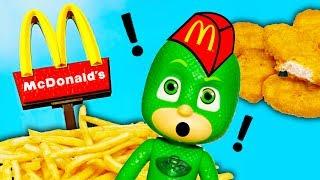 MCDONALDS Drive Thru Disney PJ Masks Gekko Pranks Paw Patrol and Boss Baby Funny Video