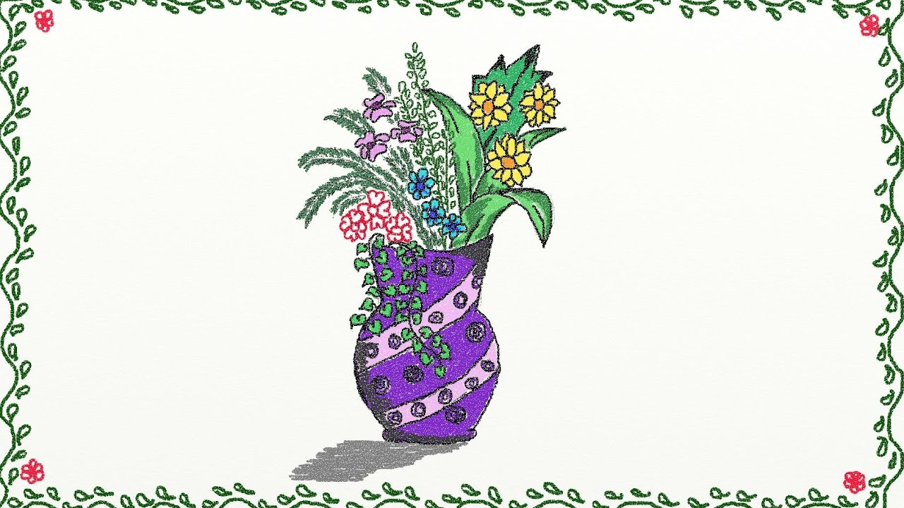 Drawing A Simple Flower Vase How To Draw A Flower Vase Drawing For Kids How  To