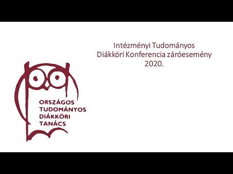 Intézményi Tudományos Diákköri Konferencia, Pannon Egyetem - Veszprém, Zalaegerszeg, 2020.