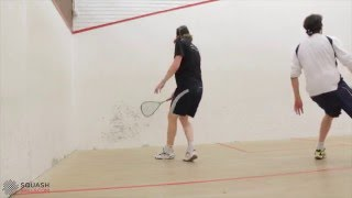 Squash tips: How to get the ball out of the deep backhand back corner