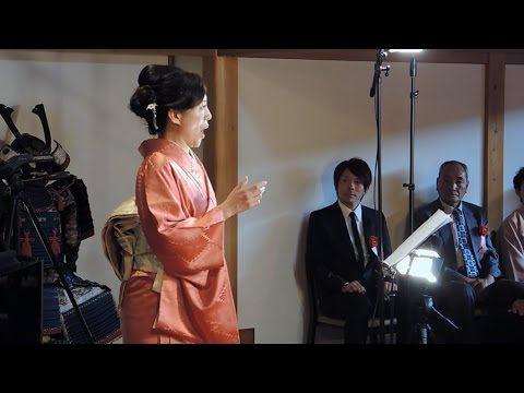 作曲家薮田さん、たつの凱旋