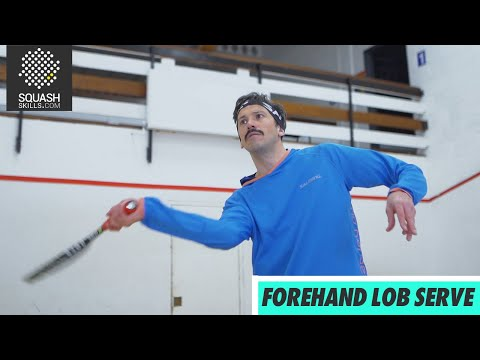 Squash tips: Forehand lob serve with Jethro Binns
