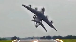 The A400 pilots never fail to impress with the steep combat-like takeoff.Bobsurgranny - This channel is all about fun aviation memories, mostly from airshows.Great audio picking up the distinctive sounds of your favourite planes.Fun Aircraft footage ~ from interesting angles.