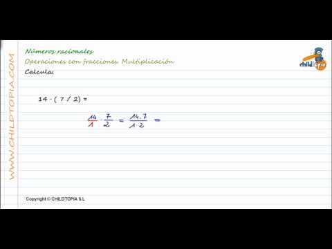 Números Racionales: Multiplicación de fracciones. 3º de ESO matemáticas