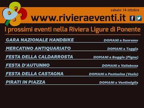 GLI APPUNTAMENTI DI RIVIERA EVENTI DI SABATO 14 OTTOBRE 2017