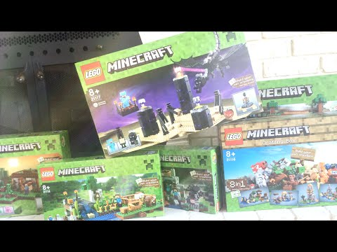 NEW MINECRAFT LEGOS! (The End, Mineshafts, and more!)