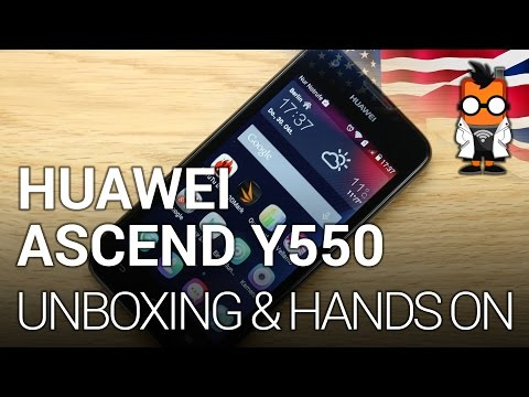 Huawei Ascend Y550 64-Bit-capable smartphone - Unboxing & first impressions [ENGLISH]