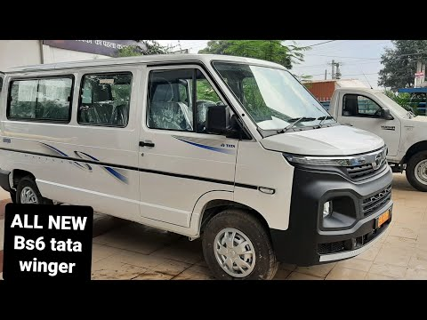 Bs6 TATA MOTORS Winger is Here. New looks. With DRL LED Lights and many more.