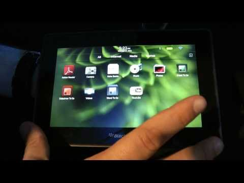 Playbook Blackberry tablet Preview ITA