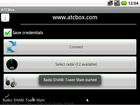 Video of ATCBox live radar and radio