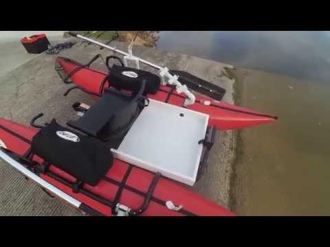 Custom rear storage tray for Outcast Fishcat Streamer XL-IR personal pontoon boat