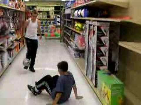 Me and Chris playing street soccer(bloopers)