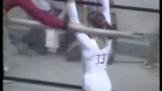 Nadia's AA  UB in 1976 Montreal olympics. Score: Perfect Ten.