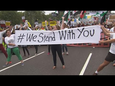 Βρετανία: Διαδήλωση για την υποδοχή περισσότερων προσφύγων
