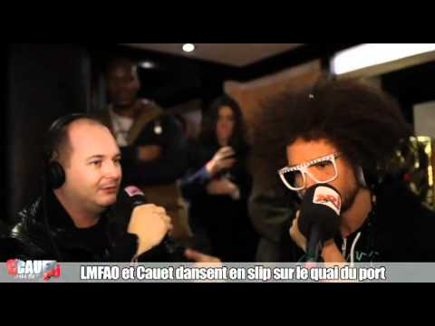 lmfao - LMFAO et Cauet dansent en slip sur le quai du port  Cannes C'Cauet sur NRJ de 21h minuit ! Pour plus de kiff, abonne-toi ! http://www.youtube.com/subscripti...