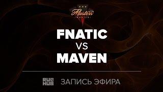 Fnatic vs Maven, Manila Masters SEA qual, game 1 [Mila, CrystalMay]