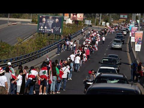 «Ανθρώπινη αλυσίδα» στο Λίβανο