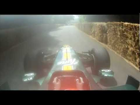 Goodwood - Caterham F1 Team set onboard cameras rolling as Heikki Kovalainen tackled the famous Goodwood hillclimb at the 2012 Goodwood Festival of Speed Caterham F1 Te...