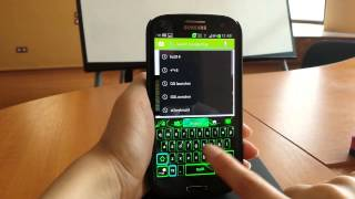 GO Keyboard Green Flame theme YouTube video