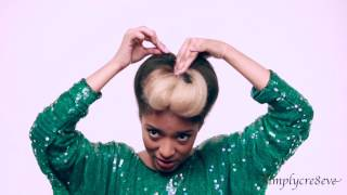 HAIR TUTORIALS: NATURAL HAIRSTYLE POMPADOUR