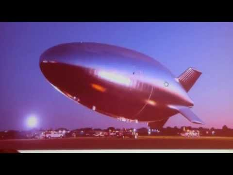 airship - US-Army unmanned untethered 60000ft Altitude Helium Airship, Hale-D takes off at sunrise from Akron Airdock Lockheed Martin - High Altitude Long Endurance-D...
