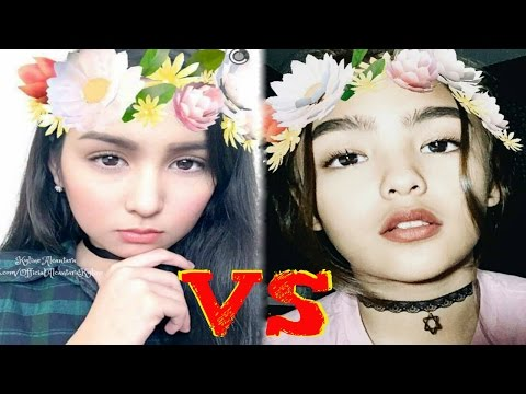 'BATTLE OF THE REAL DYOSA' Andrea VS. Kyline NEW Musical.ly l NO Meghan Trainor