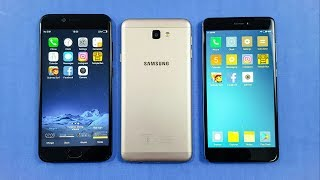 Speed test between three smartphones, redmi note 4 vs vivo v5s vs j7 prime comparison... SUBSCRIBE our channel for more great videos.. vivo v5s vs samsung j7...