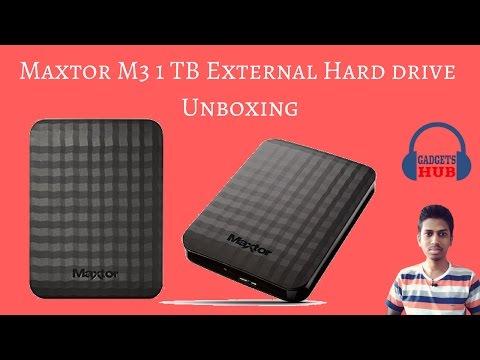 Maxtor (by Seagate) 1TB M3 USB3.0 | Slimline Portable Hard Drive | Unboxing  | Gadgets Hub