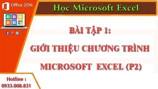 Giới thiệu chương trình Microsoft Excel (P2)