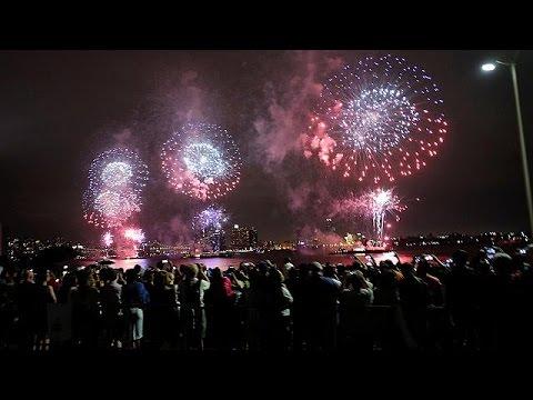 ΗΠΑ: Με βροχή και πυροτεχνήματα οι εορτασμοί για την 4η Ιουλίου