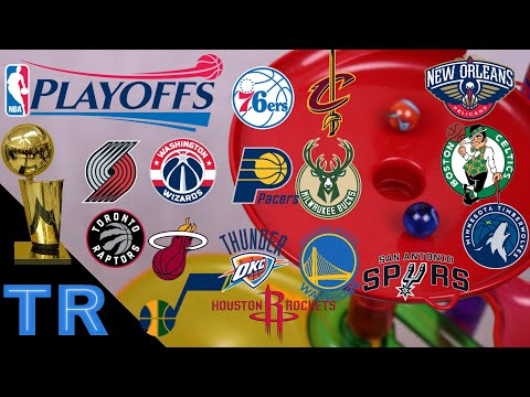 NBA Playoffs 2018 Marble Race Tournament: Who Will Win the NBA Finals? | Toy Racing