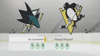 NHL 17 Gameplay - San Jose Sharks vs Pittsburgh Penguins