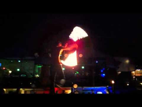 Fire Show Swing Bar Lamai Beach Koh Samui