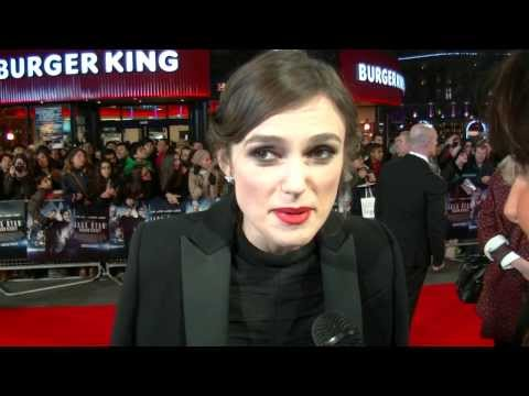 Keira Knightly on the red carpet at Jack Ryan movie premiere