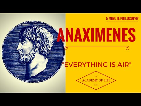 """Great Philosophers - Anaximenes: 5 Minute Philosophy No.3: Anaximenes: """"Everything is Air."""""""