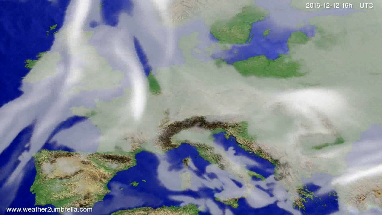 Cloud forecast Europe 2016-12-09